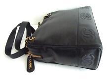 Chanel vintage Black Caviar large size long Shoulder Shopper Bag