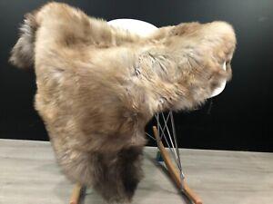 Natural Light Brown Genuine Sheepskin Rug Throw Cover Pet Bed Fur Hide