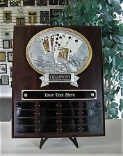 HOLD EM POKER LEAGUE PERPETUAL AWARD TROPHY PLAQUE