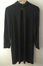 Black and White Polka Dot Tunic Style Dress (With Shop Tags) by Le Muse Size 12