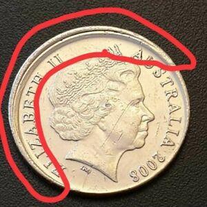 2008 Australian 5c Cent Error Coin 'Partial Collar/Mistrike Error' 005#118