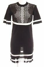 ALEXANDER WANG FOR H&M Kurzarmkleid schwarz-weiß Elegant Damen Gr. DE 34 Kleid