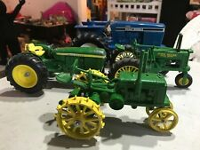 4 Ertl Ford and John Deere Die Cast Toy Tractor Lot