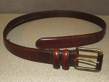 Brown Leather Hidden Zipper Money Travel Belt Men's Size 40