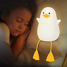 Seagull Silicone Nursery Cute Night Light for Kids,Toddler,Baby Portable Squishy