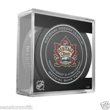 2014 Ottawa Senators Vancouver Canucks NHL Heritage Classic Official Game Puck