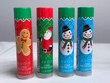 4 Avon Christmas Holly Jolly Lip Balm Frosty Cinnamon Jolly Berry Sugar Sweet