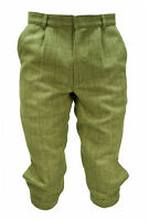 WWK Mens Tweed Plus Fours Light Green Wax Breeches Trousers Clothing Breeks