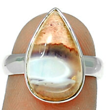 Mexican Opal 925 Sterling Silver Ring Jewelry s.7 MXOR538