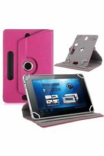 Pink 360° Folio Leather Case Cover Stand For Android Tablet PC 7