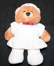 Vintage Dakin NURSE Plush Bear Lovey Doll Toy