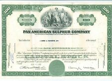 Lot of 10 X 100 Shares Pan Am Sulpher Stock Certificates Stocks Original
