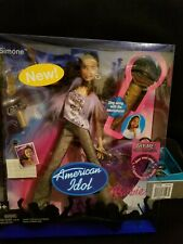 $20 American idol Simone Barbie 2005 doll with sing along mic NIB Excellent cond