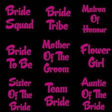 Personalized Hen Do Party Iron On Heat Transfer Bridesmaid T Shirt Vinyl 7718