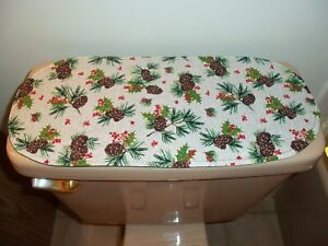 New Christmas Pinecone Sprigs-Small Table Runner-Toilet Tank Topper-Dresser