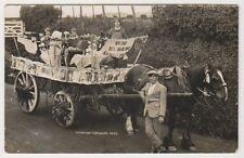 More details for wiltshire postcard - urchfont carnival 1923, nr devizes - rp (a54)