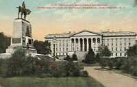 Postcard General Sherman Statue Washington DC