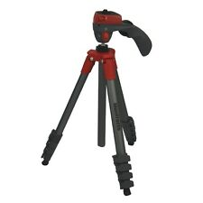 Manfrotto MKCOMPACTACN-RD Compact Action Red Aluminium with Case Tripod DSLR