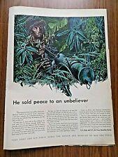 1948 U. S. Army Air Force Recruiting Ad  Infantryman Machine Gun