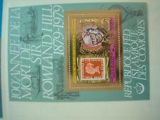 RAR aus ABO Rowland HILL Edition GOLD Block COMOREN Golddruck  1500  RARITÄT