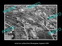 OLD LARGE HISTORIC PHOTO AERIAL VIEW OF ROOD END BIRMINGHAM ENGLAND c1940