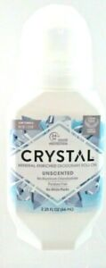 Crystal Mineral Body Roll-On Deodorant  , Unscented 2.25 oz. ~ Free Shipping