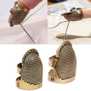 New Retro Adjustable Metal Sewing Thimbles Finger Protector Quilting Tool S M