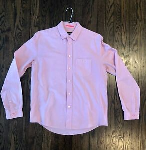 Rapha oxford pink tailored city shirt cotton bike cycling great condition