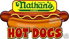 "Nathan's Hot Dogs 24"" Hotdogs Restaurant Concession Food Truck Vinyl Sticker"