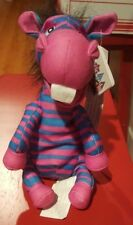Walt Disney Colorful Striped Zebra It's Small World Bean Bag NWT Original Tag