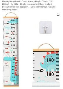Baby child Dinosaur wall hanging growth height chart