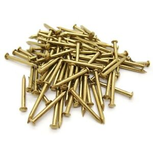 SOLID BRASS PANEL PINS 10mm x 50 Dolls House Craft Projects
