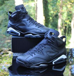 Nike Air Jordan 6 Retro Black Cat Men's Size 12 Black White 384664-020