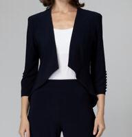 Joseph Ribkoff Women's Size US 10 Black Silky Knit Hi Lo Blazer 161140