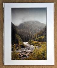 "Canadian Rockies Bow River Banff Alberta Canada 12""x8"" Mounted Photograph"