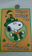 Snoopy St Patricks St Patrick'S Day Card Greeting * Woodstock Peanuts Cards Cute