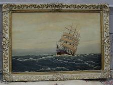 Original Veermay Oil on Canvas Painting Ship  Marine,  Boat ,Seascape Waterscene