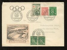 FINLAND OLYMPICS 1954 ILLUSTRATED COVER SPECIAL CANCELS
