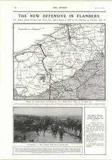 1917 New Offensive In Flanders Map Russian Delegates Council Workmen And Soldier