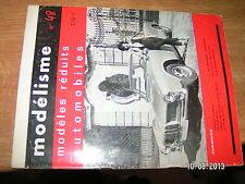 Revue Modelisme Modeles reduits automobiles n°48 Char B 1 Bis