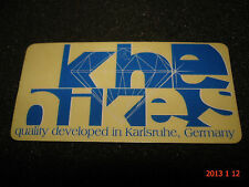 1 AUTHENTIC SMALL BLUE KHE BIKES QUALITY DEVELOPED IN GERMANY STICKER #21 DECAL