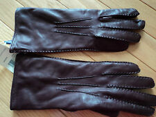 +++NWT  Ralph Lauren Colection Made In Italy Leather Gloves sz 6.5+++