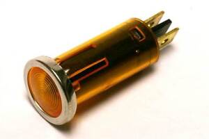 Small Amber Instrument/Dash Warning Light 12V 1.5W (GE333A)