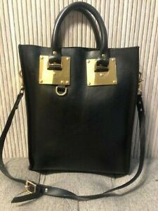 AUTHENTIC SOPHIE HULME BLACK LEATHER TOTE