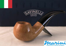 Smoking pipes pipe Savinelli 642 curve briar natural waxed wood made in Italy