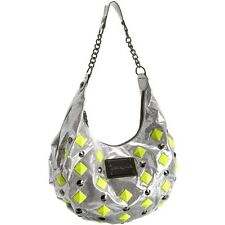 Betseyville by Betsey Johnson Punky Rox Hobo (Silver with Neon Studs)