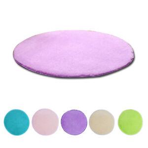 Top Quality Shaggy Round Carpet Anti-Slip Soft Plush Mat Modern Rug Coffee Khaki