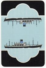 Playing Cards 1 Single Swap Card - Old Vintage BLUE FUNNEL LINE Shipping Ship 6