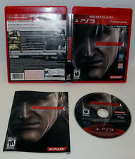 Metal Gear Solid 4   Guns of the Patriots  Playstation 3,ps3