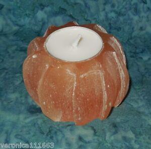 "Orange Selenite Twist Candle Holder NEW Tea Light Success 12.5oz 3.1"" x 2"""